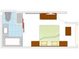 Layout Of Club Comfort - Rooms