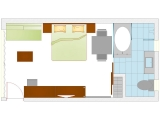 Layout Of Club Luxury - Rooms