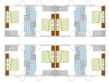 Layout Of Standard AC Rooms (Pool View & Back View)