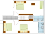 Layout Of Super Deluxe Ac Room-Back View